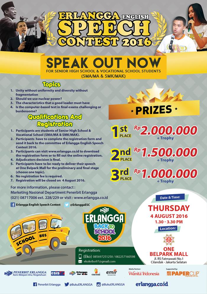 Erlangga English Speech Contest SMA MAK