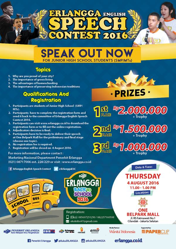 Erlangga English Speech Contest SMP MTs