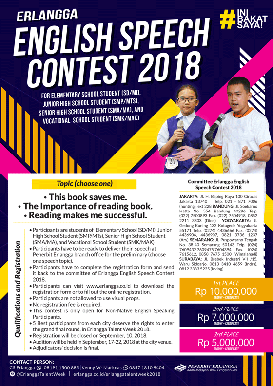 Erlangga English Speech Contest 2018
