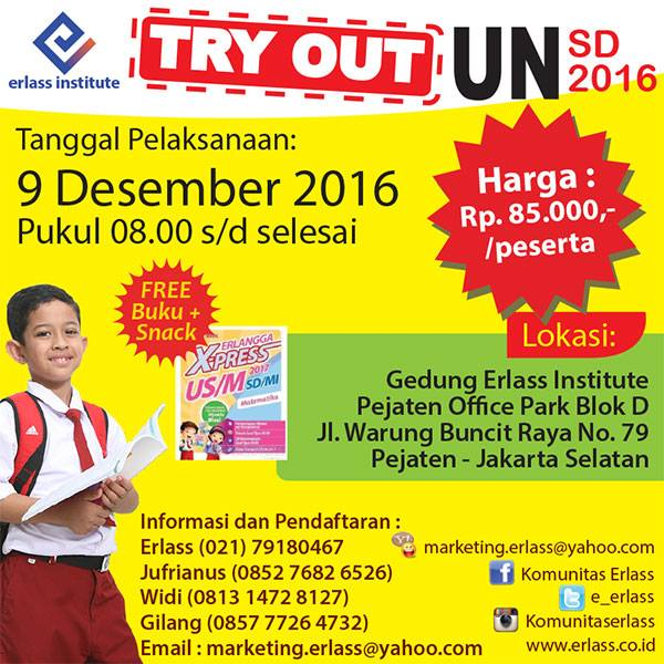 Tryout UN SD Bersama Erlass Institute