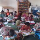 Fun Writing di kelas. Semangat mengikuti kegiatan Fun Writing With Majalah Bravo!